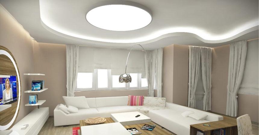Дизайн на окачен таван