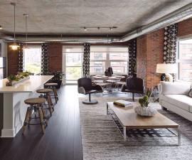Интерирор на мезонет в стил Лофт апартамент