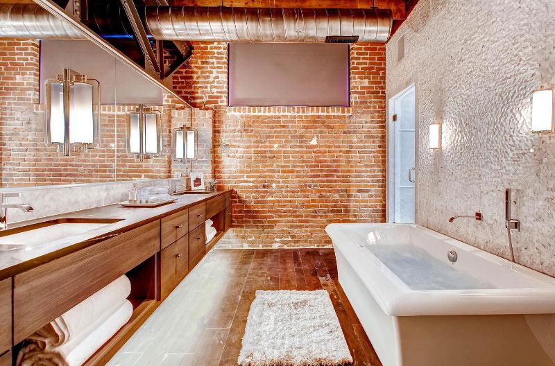 стенна декорация тухли в баня